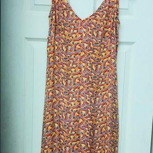 DVF Silk Dress. Ruffle fitted